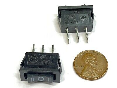 2 X Rocker Switch 3 Pin 3 Position 6a 20mm 7mm Maintained Small Qy-601-103 E28