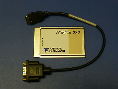 National Instruments Pcmcia-232 Interface Card With Cable Rs232