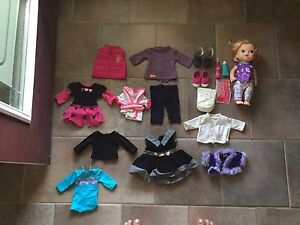 """18"""" doll clothing and baby alive for sale"""