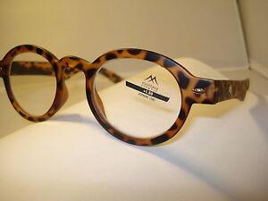 AUTH MONTANA VINTAGE DESIGNER PREPPY ROUND READING GLASSES READERS TORTOISE 1.50