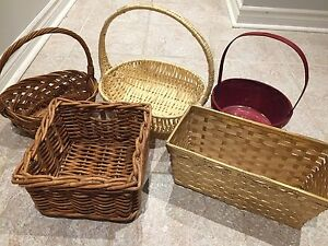 5 Whicker baskets