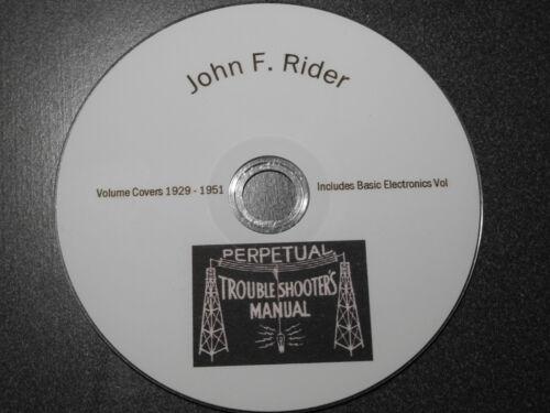 Riders Radio & Electronics Full Set Servicing 1929 to 1951  Schematics & More