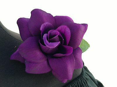 PURPLE FLOWER HAIR CLIP FOR MEXICAN FIESTA,5 DE MAYO,DAY OF THE DEAD,WEDDING](Day Of The Dead Hair Flowers)
