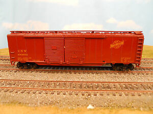 HO-SCALE-KAR-LINE-CHICAGO-NORTH-WESTERN-CNW-106804-50-DD-BOX-CAR