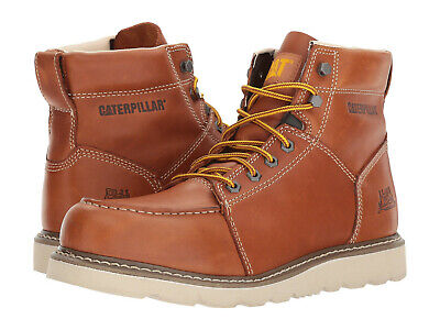 Men Caterpillar Tradesman Soft Toe Work Boot P74113 Brown Leather 100% Original