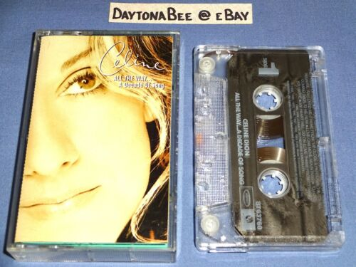 Celine Dion All The Way A Decade Of Song 1999 Cassette Tape R Kelly Peabo Bryson