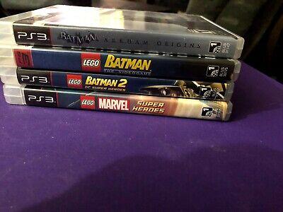 Lot of Super Hero PS3 Games Lego Batman 1 &2, Lego Marvel Super Heroes, Batman..