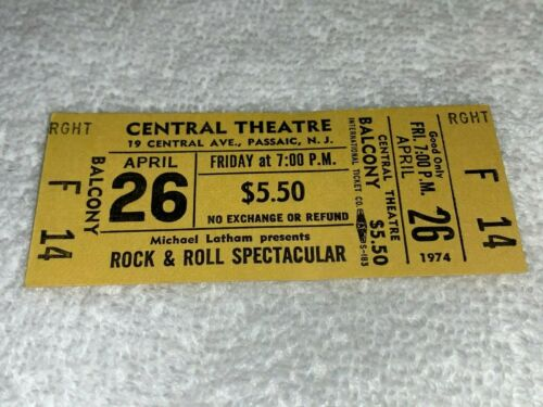 CHUBBY CHECKER COASTERS FIVE SATINS ANGELS CHIFFONS UNUSED CONCERT TICKETS USA