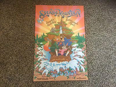 "Splash Mountain 12/"" X 18/"" New Disney Poster WDW Frontierland"