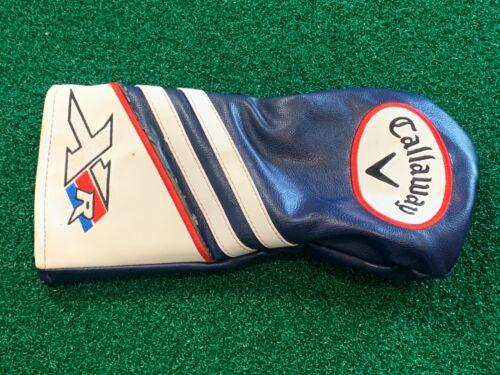 CALLAWAY XR DRIVER HEADCOVER - Blue White Golf Head Cover GOOD