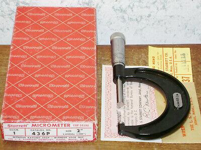 Starrett 1-2 Inch Micrometer No 436p W Box