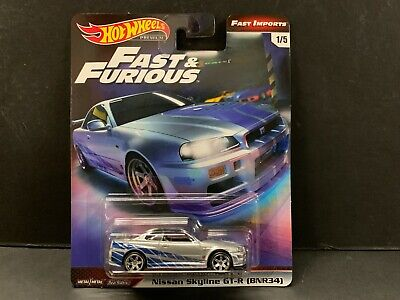 Hot Wheels Nissan Skyline R34 Brian's Car Fast & Furious 1/64 GBW75-956C M2