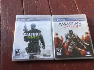 PS3 CALL OF DUTY MW3 ASSASSINS CREED FACTORY SEALED  $12 for 2