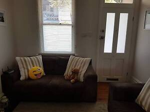 3 seater and 2 seater brown Sofa / Couch Paddington Eastern Suburbs Preview
