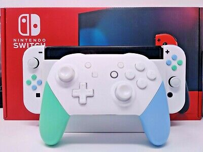 Animal Crossing Themed Nintendo Switch with Matching Pro Controller and Dock