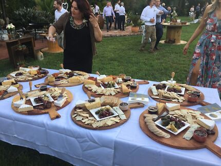 Wooden cheese boards for hire