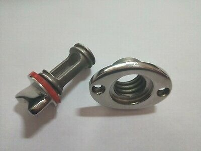 Boat Fits 1'' Hole Garboard Drain Plug Boat 316 Stainless Steel Thread for 3/4''
