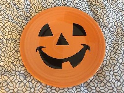 Fiestaware Luncheon Plate - Pumpkin Happy Face, Fiesta, Halloween, Dessert - Happy Pumpkin Face