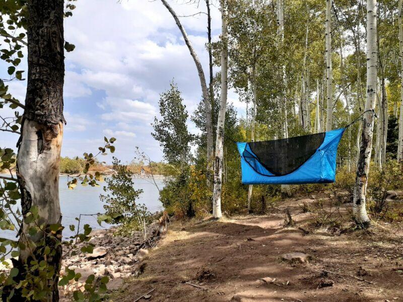Tent Hammock 3pc hammock+fly+air mattress 1 man tent 6
