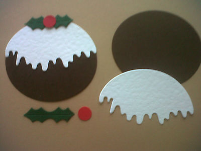 CHRISTMAS PUDDING KIT DIE CUTS (MAKES 10) FOR CARDS/TOPPERS