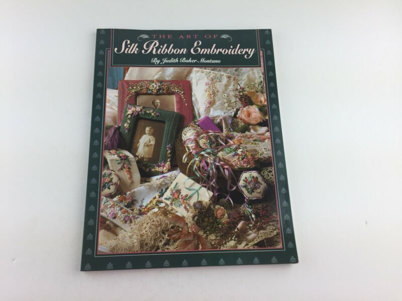 The Arts Of Silk Ribbon Embroidery Pattern Book Picture Frame Pin Cushion Shoe