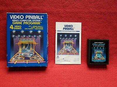 Atari 1981 Video Pinball With Box And Instruction Booklet