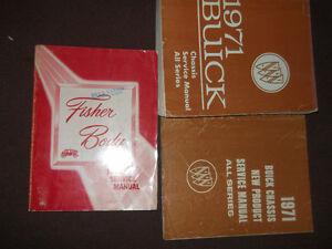 1971 BUICK ELECTRA SKYLARK LESABRE RIVIERA Service Repair Shop Manual Set 71 x