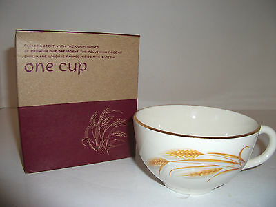 Homer Laughlin Cup GOLDEN WHEAT in Box - Premium for DUZ Detergent (Homer Laughlin Golden Wheat)