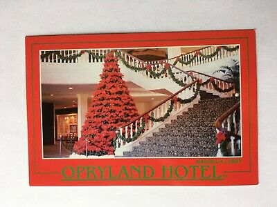 Opryland Hotel in Nashvelle, TN -1990 Christmas tree by stairs ()