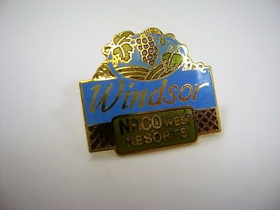 Vintage Collectible Pin  Windsor Naco West Resorts