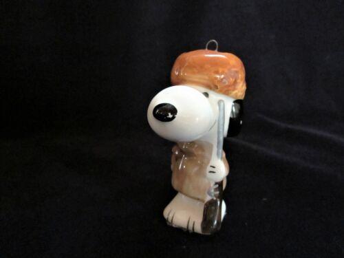 Vtg Ceramic Snoopy Davy Crockett Christmas Ornament Made in Japan UFS, 1958-66