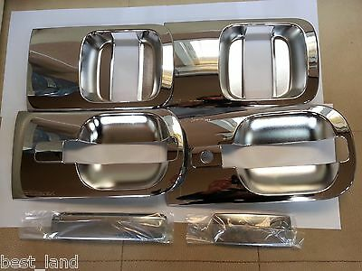 Chrome Door Handle Catch Molding Cover for 97~04 Hyundai H-1 H-200 w//Tracking No