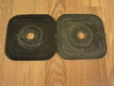(2) Ironmaster Quick Lock 2.5 lb Replacement Weight Plate 2 x 2.5 lbs dumbbell