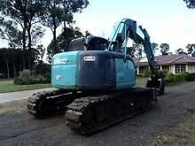 KOBELCO SK135SR 13.5T EXCAVATOR KNUCKLE BOOM BACKHOE KOMATSU CAT Austral Liverpool Area Preview
