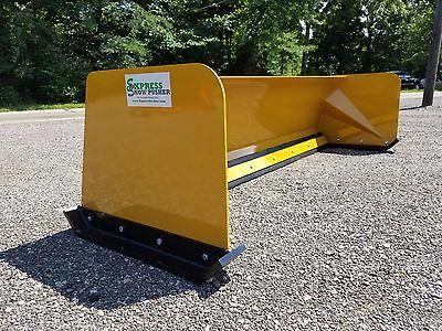 7 Low Pro Snow Pusher Box Skid Steer Bobcat Case Caterpillar Local Pick Up-rtr