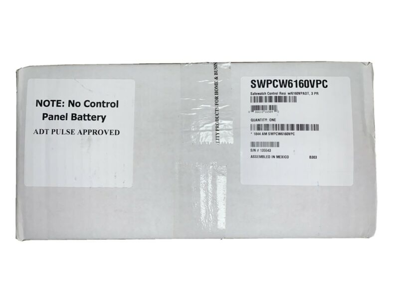 ADT PULSE APPROVED SWPCW6160VPC SAFEWATCH CONTROL