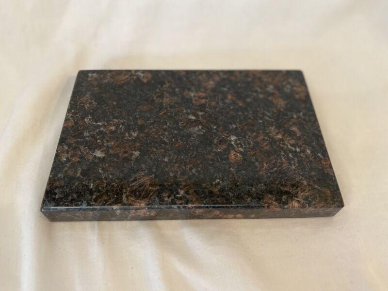 Black/Brown Granite Base for Fine Art Sculptures - 9.5 x 6 x 1 Rectangle