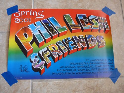 Phil Lesh & Friends 2001 Grateful Dead Signed Autographed  Poster PSA Guaranteed