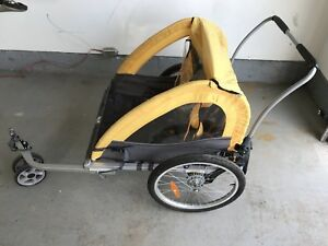 Bike trailer and jogging stroller