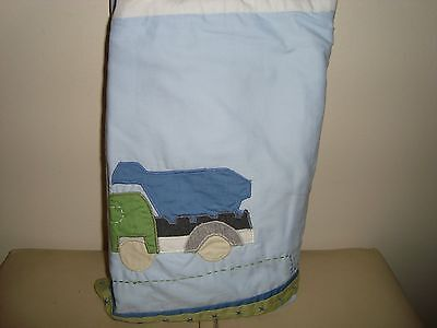 Pottery Barn Kids Christopher's Construction Crib Bedskirt Bed Skirt  NEW