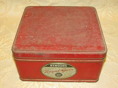 Large Vintage Bensons Royal Gala Toffee Tin