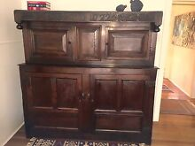 ANTIQUE ENGLISH OAK COURT CUPBOARD '1722'  Museum Quality Byron Bay Byron Area Preview