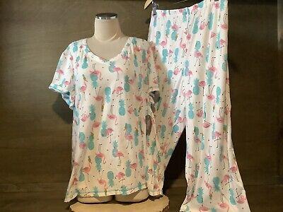 Secret Treasures Women's FLAMINGO  Pajamas Top & Capris NWT REGULAR / -