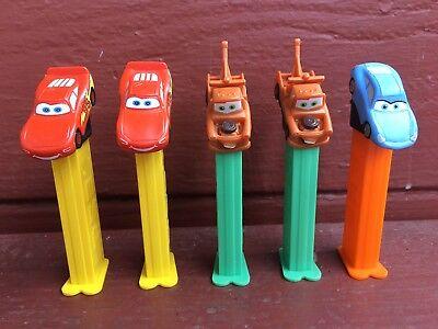 Cars Pez Dispensers-Mater Tow Truck/Finn McMissile/Lightning McQueen Lot of 5