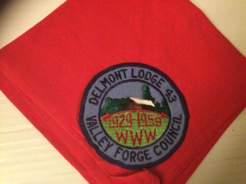 Delmont Lodge 43 OA Curved Arrow 30th Anniversary Patch 1959 Neckerchief SALE