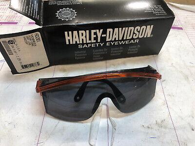 11 Harley Davidson Safety Glasses Gray Lens Hardcoat Eyewear Hd201 Case Plus 1