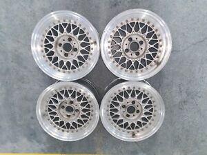 Genuine BBS RS001 4x100 15x7 ET25 Wheels Split Rims