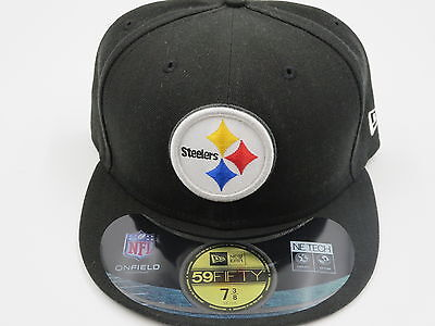 New Era Pittsburgh Steelers NFL Sideline 59Fifty Black Fitted Hat Baseball Cap ()