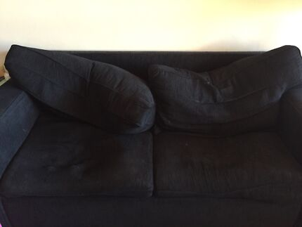 Free black sofa bed couch Mortdale Hurstville Area Preview