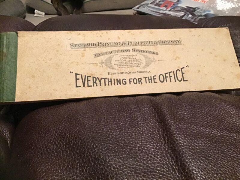 Vintage 1930's Standard Printing Co Receipt Booklet Huntington WV Dog Free ship